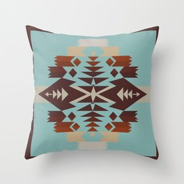 American Native Pattern No. 290 Throw Pillow