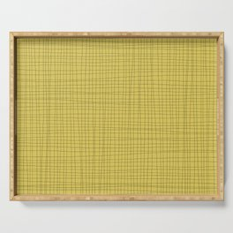 Yellow and Black Grid - Disorderly Order Serving Tray