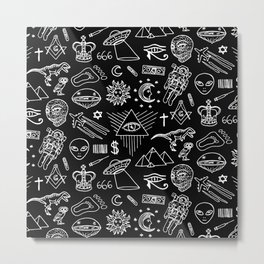 Conspiracy pattern Metal Print