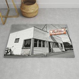 Corner laundromat Rug