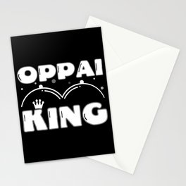 Oppai Mega Milk I Anime Tiddies King Queen Couples Stationery Cards