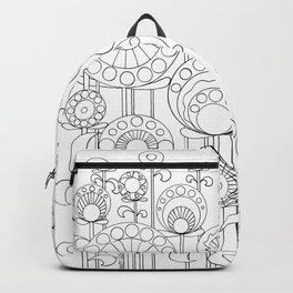 Flower Garden BW Backpack