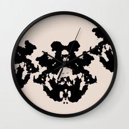 Black Rorschach inkblot Wall Clock