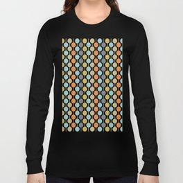 Retro Circles Mid Century Modern Background Langarmshirt