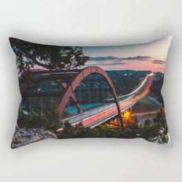 (Austin) 360 Bridge Overlook - Sunset Rectangular Pillow