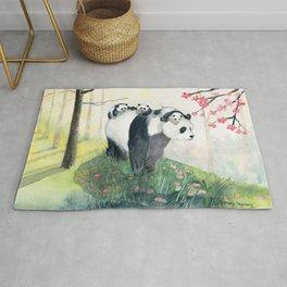 Panda family Rug
