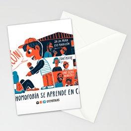 La homofobia se aprende en casa  Stationery Cards