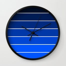 Infantry Blue Ombre Wall Clock