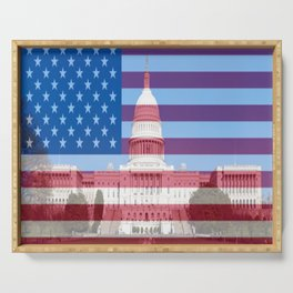 United States Capitol Building Serving Tray