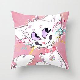 Mewie Throw Pillow