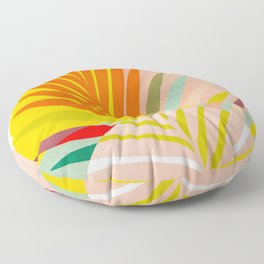 minimal leave tropical spring Floor Pillow