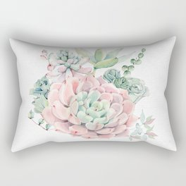Pink Succulent by Nature Magick Rectangular Pillow