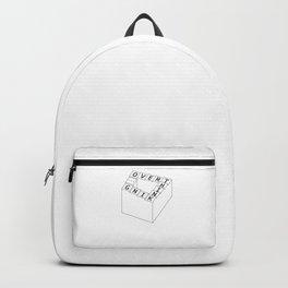 overthinking - black&white Backpack