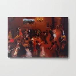 African American Masterpiece 'Stomp - Chicago's Jazz Age' by Archibald Motley Metal Print