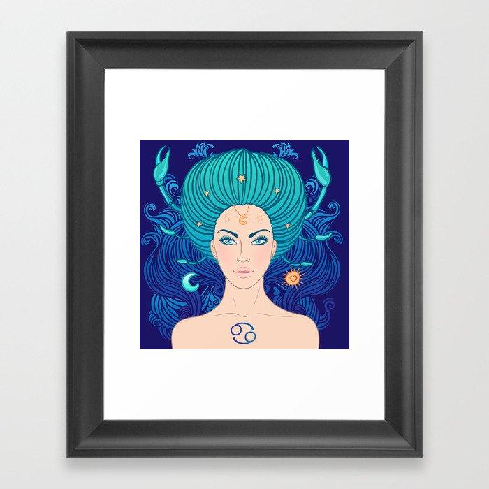 Zodiac Cancer Gerahmter Kunstdruck