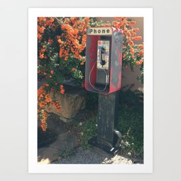 Santa Fe Phone No. 2 Art Print
