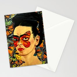 Frida Kahlo with Monarch Butterflies Stationery Cards