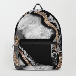 Yin Yang Agate Glitter Glam #8 #gem #decor #art #society6 Backpack