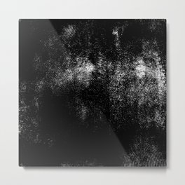 Grunge monochrome background Metal Print