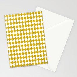 Antique Moss Gold Modern Diamond Pattern Stationery Cards