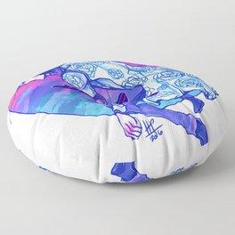 Little Chromatic Submarines Floor Pillow