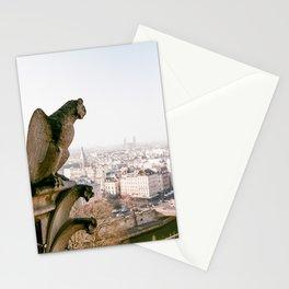 Gargoyle Gaze from Notre Dame - 35mm film Stationery Cards