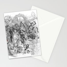 carré mystique Stationery Cards