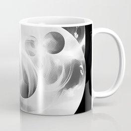 abstract fractals 1x1 reacbw Coffee Mug