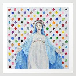 Heavenly Polka Daubs Art Print