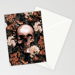 SKULL AND FLOWERS II Stationery Cards