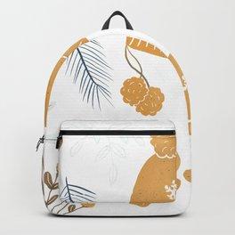 Winter time orange illustration  Backpack