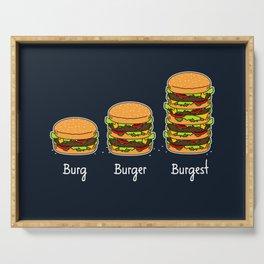 Burger explained 2. Burg. Burger. Burgest. Serving Tray