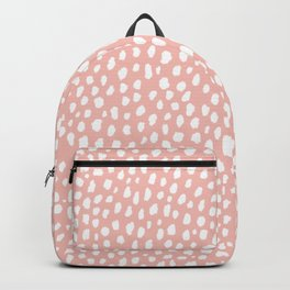Pink Polka Dot Spots (white/pink) Backpack