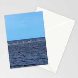 Walking to Perce Rock at low tide Stationery Cards