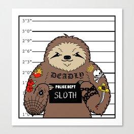 Prison Sloth Canvas Print