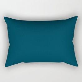 Dark Blue Green / Teal Rectangular Pillow