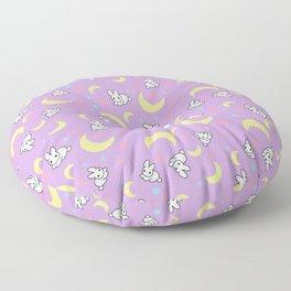 Moody Rabbits Floor Pillow