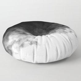 Ombre Black White Minimal Floor Pillow