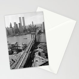 Looking NW Towards Manhattan / Twin Towers Stationery Cards