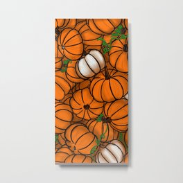 Fall Pumpkin Patch Metal Print