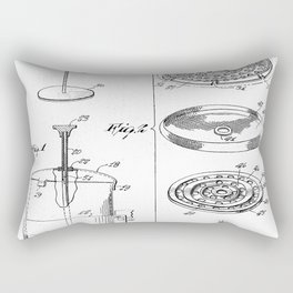 Coffee Filter Patent - Coffee Shop Art - Black And White Rectangular Pillow