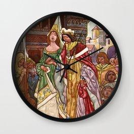 """Sleeping Beauty"" by Charles Robinson Wall Clock"