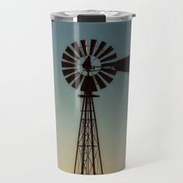 Sunset Windmill Travel Mug