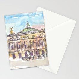 Paris Opera at Sunset Stationery Cards