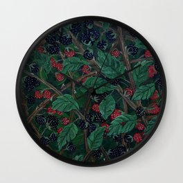 Blackberry Bonanza Wall Clock