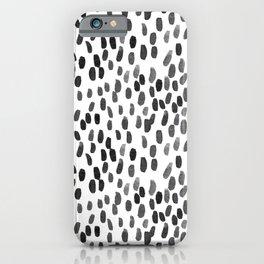 Painted Rain | Black iPhone Case