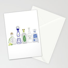 Tequila Bottles Illustration Stationery Cards