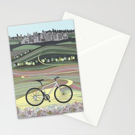 Bicycle Illustration Stationery Cards