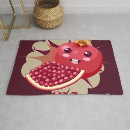 Kawaii Pomegranate Rug