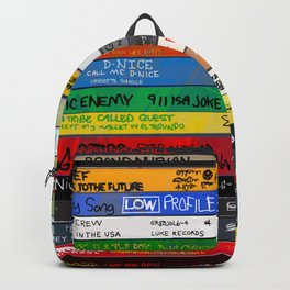 Old School 80's and 90's Hip Hop tapes Drawing #49 - 714. Backpack